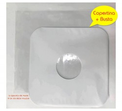 COPERTINA Cartoncino Patinato + BUSTA PE Neutro - Qtà 25