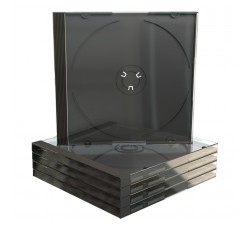 CUSTODIE per 1 CD - Tray NERO - Macchinabile - Q.ta 10