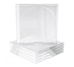 CUSTODIE per 1 CD - Tray CLEAR - Macchinabile - Q.ta 10