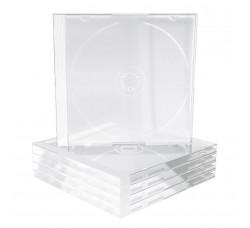 CUSTODIE per 1 CD - Tray CLEAR - Macchinabile - Q.ta 10