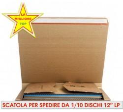 """SCATOLA PER LA SPEDIZIONE DEGLI DI LP E DISCHI 12"""" POLLICI - 1/10 LP"""