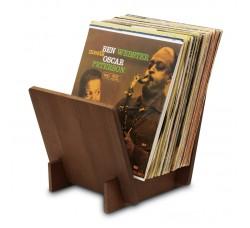 DYNAVOX ST40 - Supporto LP per Dischi in Vinile, Legno NOCE - Contiene 40 LP
