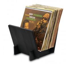 DYNAVOX ST40 - Supporto LP per Dischi in Vinile, Legno NERO - Contiene 40 LP