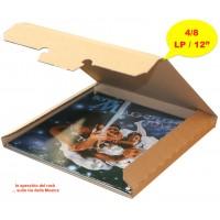 SCATOLA di Cartone per la spedizione dei DISCHI VINILI - Contiene 1/ 6 LP - 8/10 Max Single