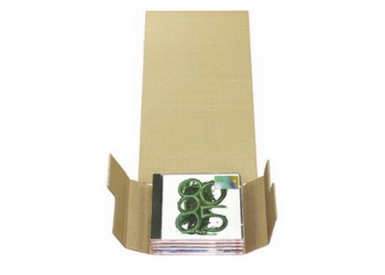 SCATOLA  di CARTONE per spedire 1/5 CD formato JEWEL CASE - Q.ta 10 Pezzi