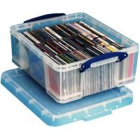 REALLY USEFUL - Contenitore di plastica per 44 DVD o 93 CDs.
