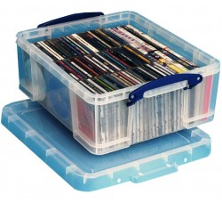 REALLY USEFUL - Contenitore di plastica per 44 DVD o 93 CDs.