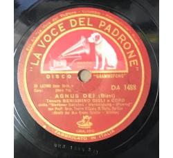 Beniamino gigli - Agnus Dei - 78 RPM