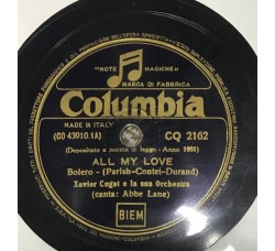 Xavier Cugat-All my love 78 RPM