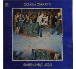 Gigliola Cinquetti – Stasera Ballo Liscio – LP/Vinile