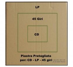 PIASTRE di Cartone - RINFORZO spedizioni per LP - 45 GIRI - CD - Qtà 100 Piastre