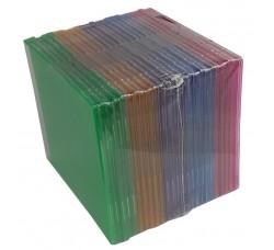 CUSTODIE  CD slim Infrangile (PP) - Colore misto - 25 pezzi