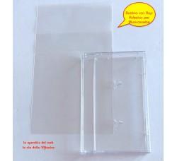 Bustina con Flap adesivo di protezione per Musicassette - Qtà 50 Bustine