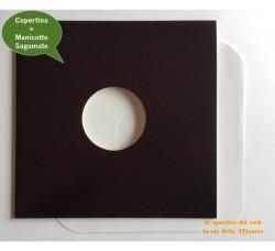 Copertine colore NERO  con Manicotti DELUXE Antigraffio Colore BIANCO - Qtà 10+10
