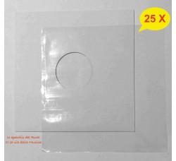 """COPERTINE + BUSTE PE Neutro - Per LP - 12"""" Pollici - Qtà 25"""