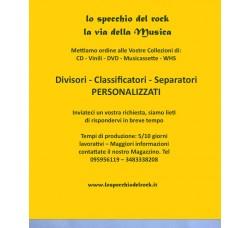 SEPARATORI DIVISORI PERSONALIZZATI - PER VINILI - CD - DVD
