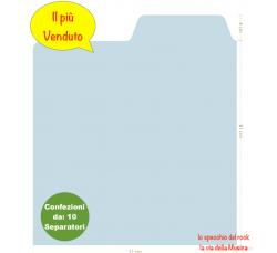 SEPARATORI per Dischi VINILI LP / 33 GIRI - Colore BIANCO - Flap CM 14 - Qtà 10 Pezzi