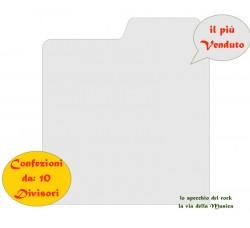 SEPARATORI per Dischi VINILI / 45 GIRI  - Colore BIANCO - Mod Inglese