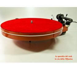 TAPPETINO /SLIPMATS per Giradischi in Pelle colore Rosso mm 2,0