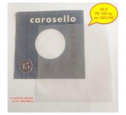 BUSTE in PE  Neutro per dischi VINILI 45 Giri - my 100 - cm 187x190 - Qtà 50