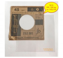BUSTE in PPL  Neutro per dischi VINILI 45 Giri - my 100 - cm 195x195 - Qtà 50