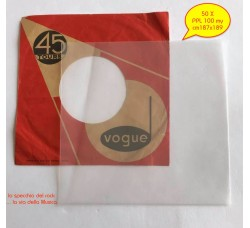 Buste in PPL Neutro per dischi VINILI 45 Giri - my 100 - cm 187x189  - Qtà 50