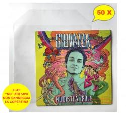 "Buste per Vinili 12"" LP - (PE my 100) Flap NO adesivo - Qtà 50"