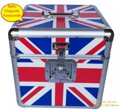CRISTAL RAY - Valigia BOX Alluminio FLAG  per 70/100 LP -