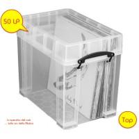 REALLY USEFUL - Contenitore Antiurto di Plastica per 50 Dischi Vinili LP