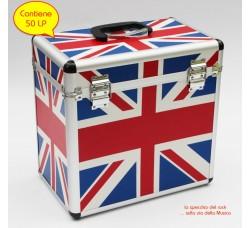 CRISTALRAY - Vinyl  Record Case FLAG  per LP 33 giri - Contiene 50 LP
