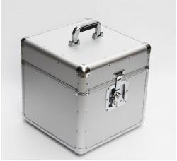 CRISTALRAY -  Valigia BOX Alluminio per 50/70  dischi VINILI 33 giri - Colore SILVER