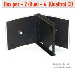 BOX Cofanetto Jewel Case per 2 O 4 CD o DVD