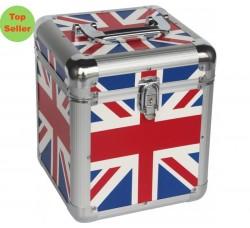 Valigetta BOX Alluminio per 70 dischi vinili 45 giri - Colore Bandiera
