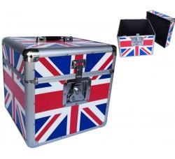 Valigetta BOX Alluminio per 70/100  dischi VINILI 33 giri - Colore Bandiera