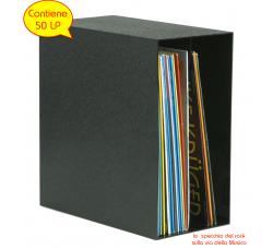 KNOSTI - Contenitore BOX DELUXE  per LP 50 LP/Vinile - Colore NERO