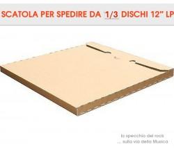 SCATOLA Cartone  per la spedizione dei DISCHI VINILI - Contiene 1/ 3 LP