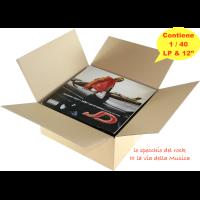 """SCATOLE  per la  spedizione dei Dischi Vinili LP – 12""""  - Contiene da 1 a 40 dischi Vinili- Qtà 10"""
