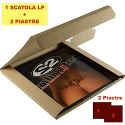 SCATOLA  + DUE (2) PIASTRE per la spedizione dei DISCHI VINILI LP - 1 LP / 5 LP