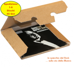 SCATOLA di cartone KRAFT per spedire da 1-6 dischi  VINILE 45 Giri - 185x185x12 mm