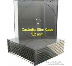 CUSTODIE Slim per 1 CD - Tray  Vassoio NERO - Macchinabile - Q.ta 10