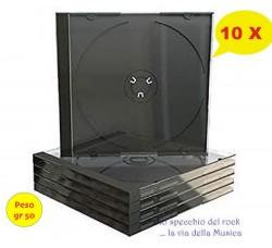 CUSTODIE Jewel Case  Vassoio COLORE NERO per 1 CD - Gr 50 Cad