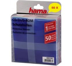 HAMA - Bustine DELUXE  per CD/DVD diversi colori - Qtà 50 *