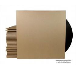 """Copertine per LP /12"""" Colore MARRONE- senza FORO dorso mm3 - Qtà 10"""