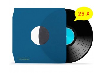 Manicotti per LP Foderati con Pellicola Antistatica Colore BLU - Angoli CUT - Qtà 25