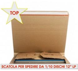 """SCATOLA per la Spedizione dei DISCHI VINILI LP da (1) a (10 ) LP /12"""" Pollici"""