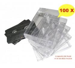 Custodie NUOVE trasparenti per MUSICASSETTE - AudioCassette - Qtà 100