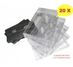 Custodie NUOVE trasparenti per MUSICASSETTE - AudioCassette - Qtà 20