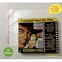 BUSTINE Protettive in  PPL per CD BOX - Custodie dorso Max cm 2.20  - Q.ta 100