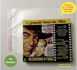 Bustine PPL per CD BOX - Inserimento Custodie  Bordo Max cm 2.20  - Qtà 50