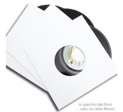 """Copertine CARTONE 300gr per dischi 45 Giri 7"""" Pollici colore BIANCO - Qtà 10"""